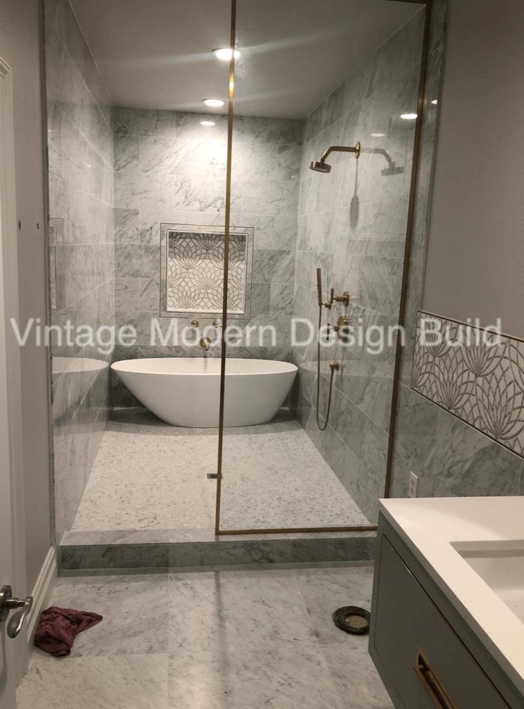 Carrara Guest Bathroom Design and Remodeling Austin TX
